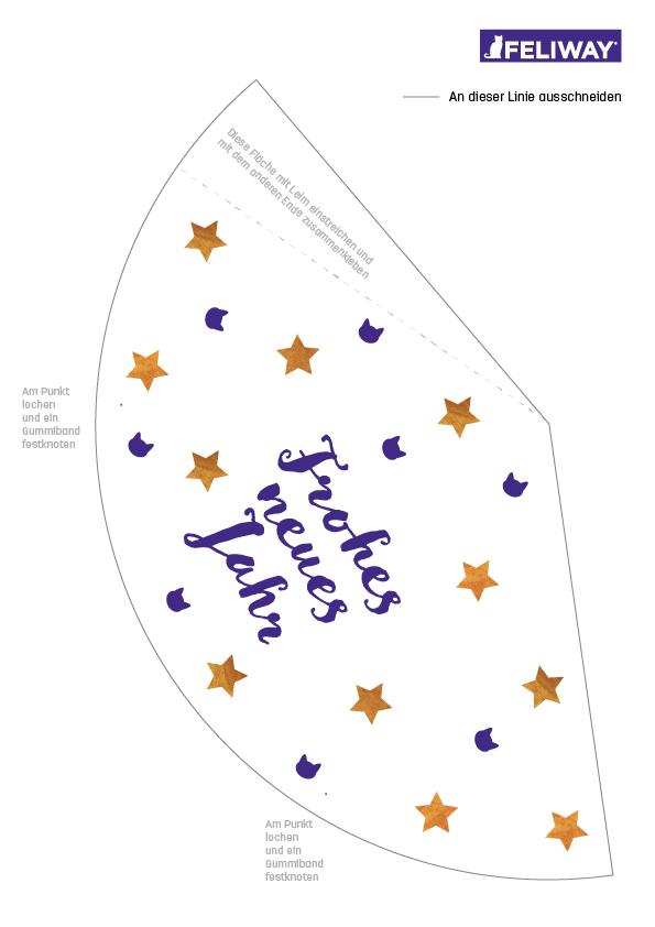 Partyhut DIY zum Ausdrucken für Silvester
